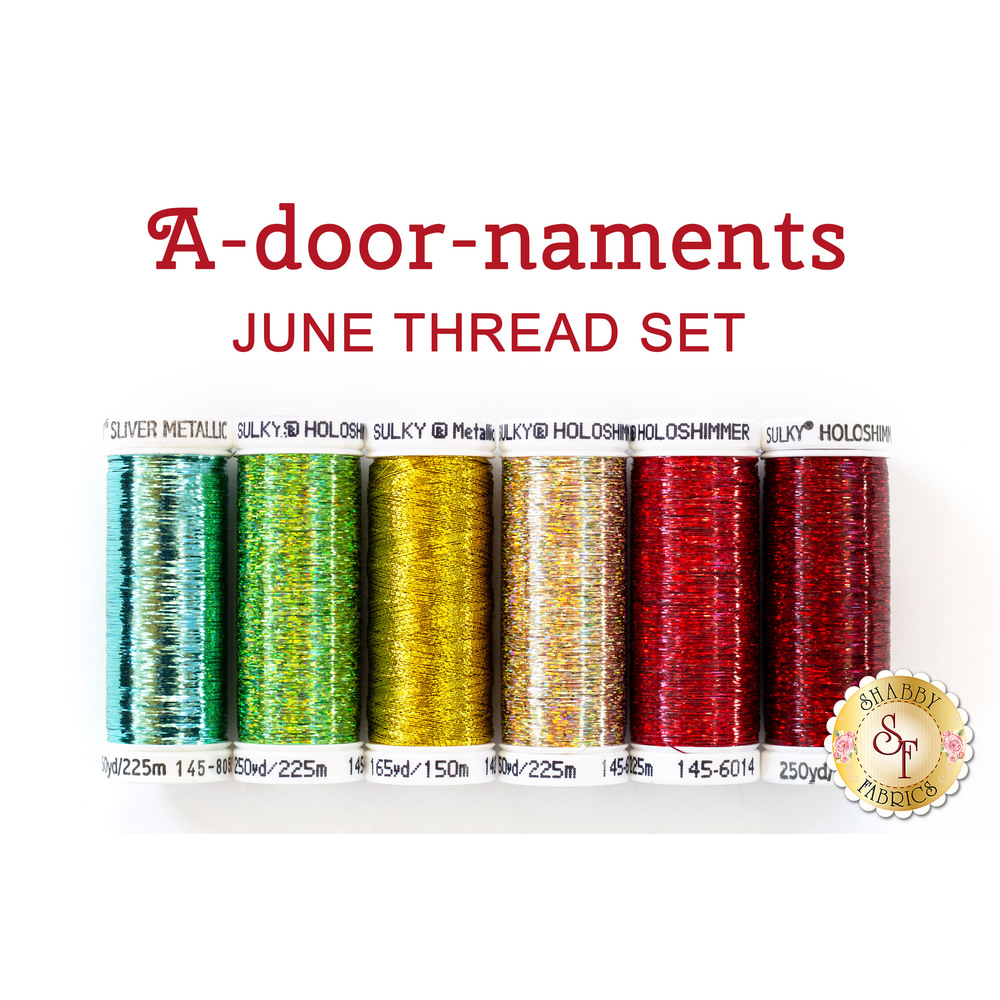 A-door-naments - June - 6pc Thread Set