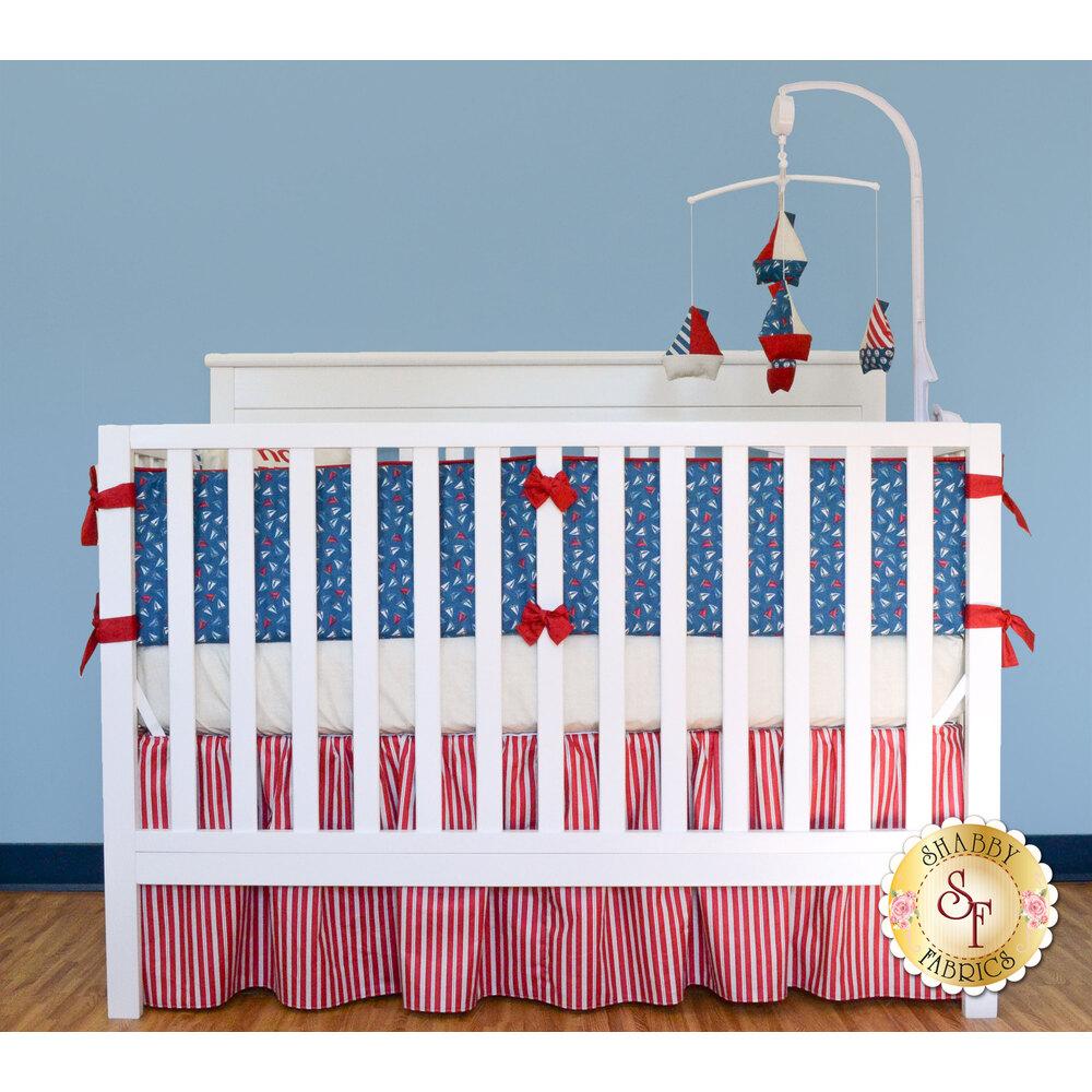 Ahoy! It's A Boy! Crib Skirt Kit