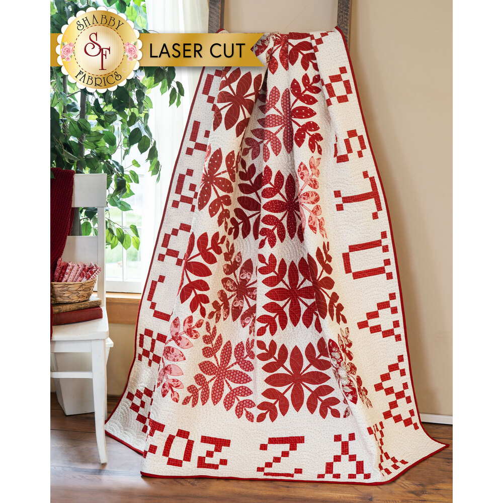 A preview of the A Is For Apple Quilt Kit - Laser Cut | Shabby Fabrics