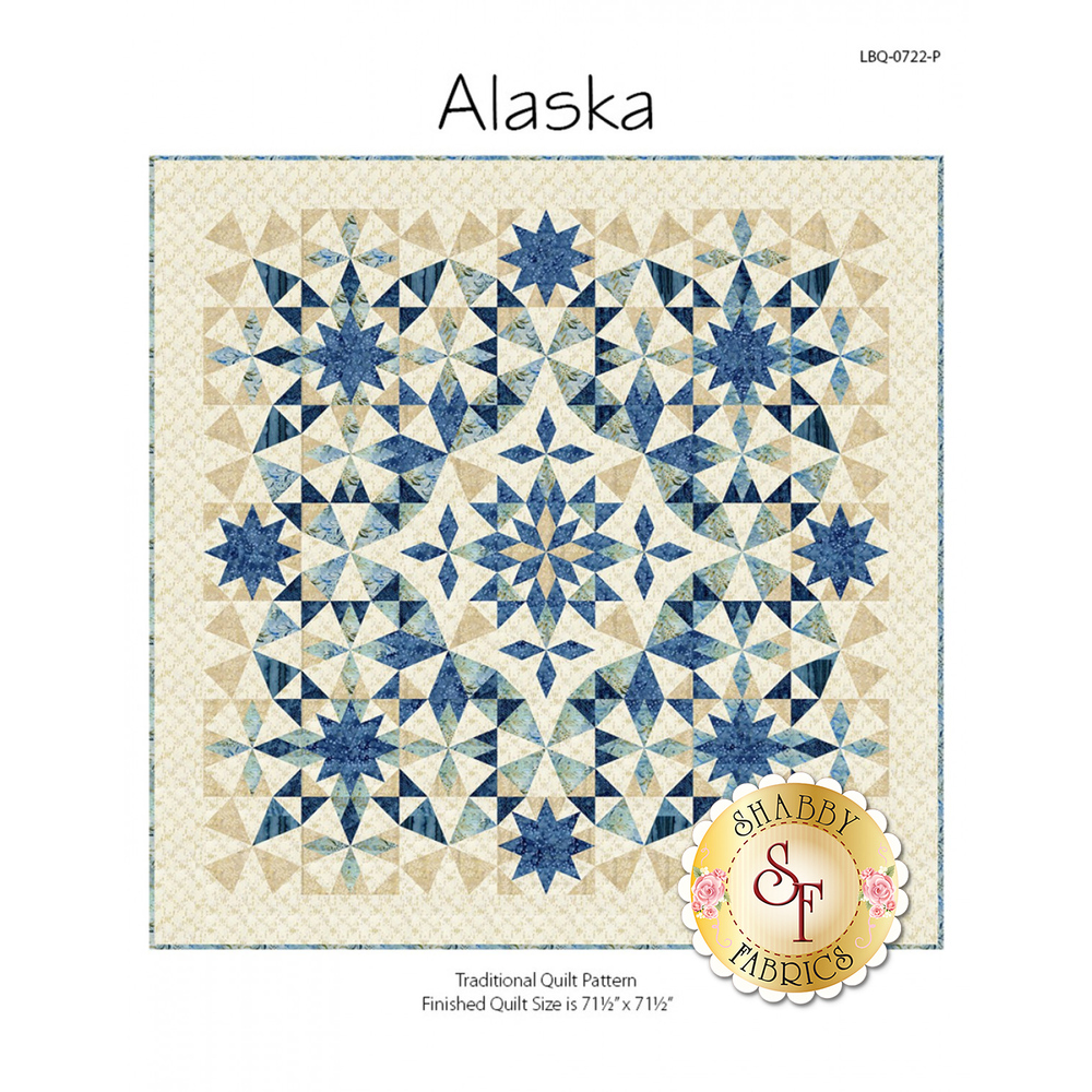 The front of the Alaska pattern showing the finished Alaska quilt | Shabby Fabrics