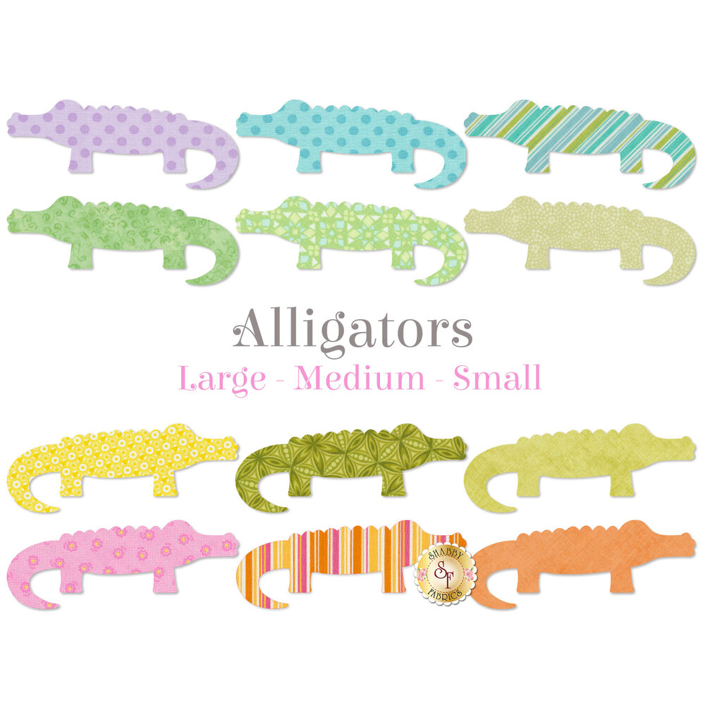 Laser-Cut Alligators - 3 Sizes Available!
