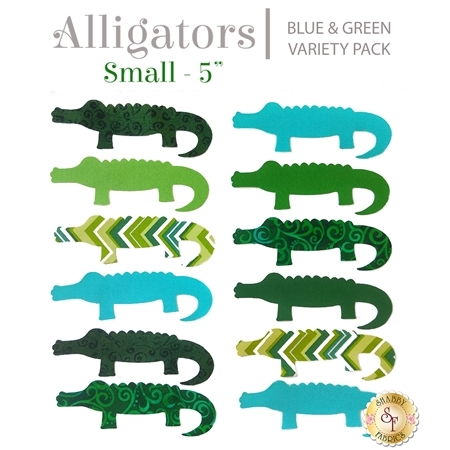 Laser-Cut Alligator Set - Small Blue & Green Variety Pack