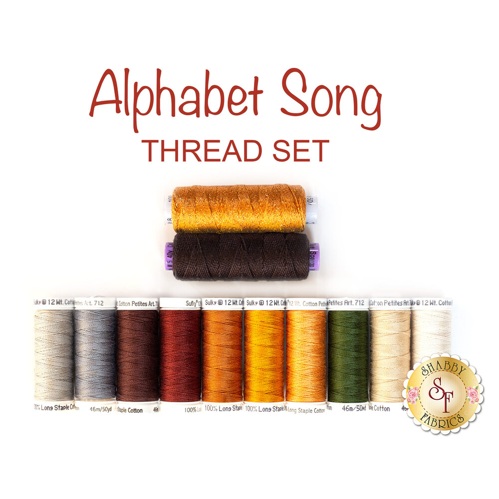 Alphabet Song - 12pc Thread Set