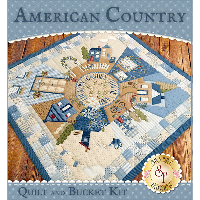 American Country Quilt & Bucket Combo