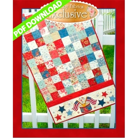 American Glory Table Runner Pattern - PDF Download