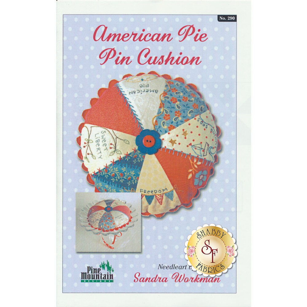 American Pie Pin Cushion Pattern available at Shabby Fabrics