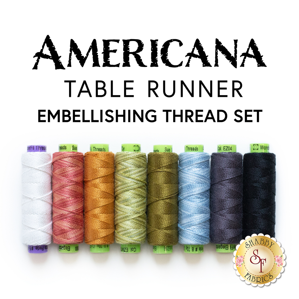 Americana Table Runner 8pc Embellishing Thread Set