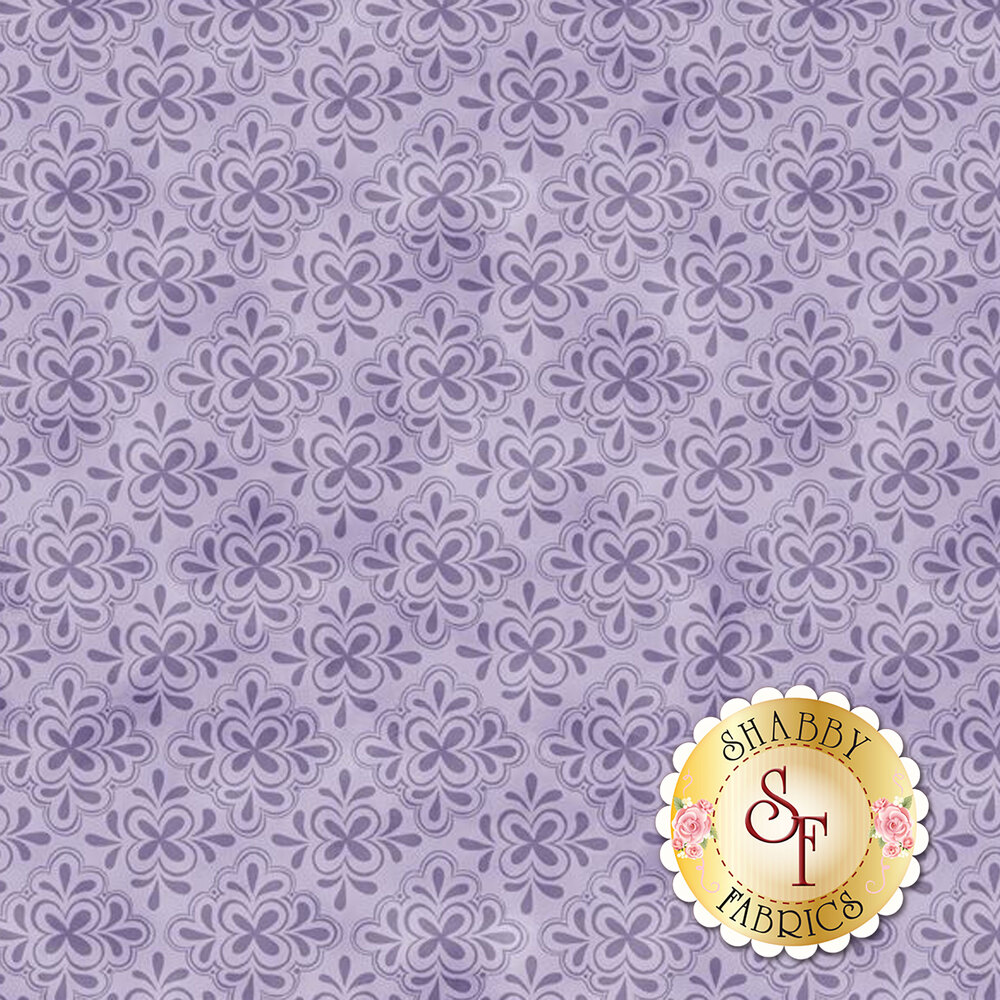 Tonal purple tile design | Shabby Fabrics