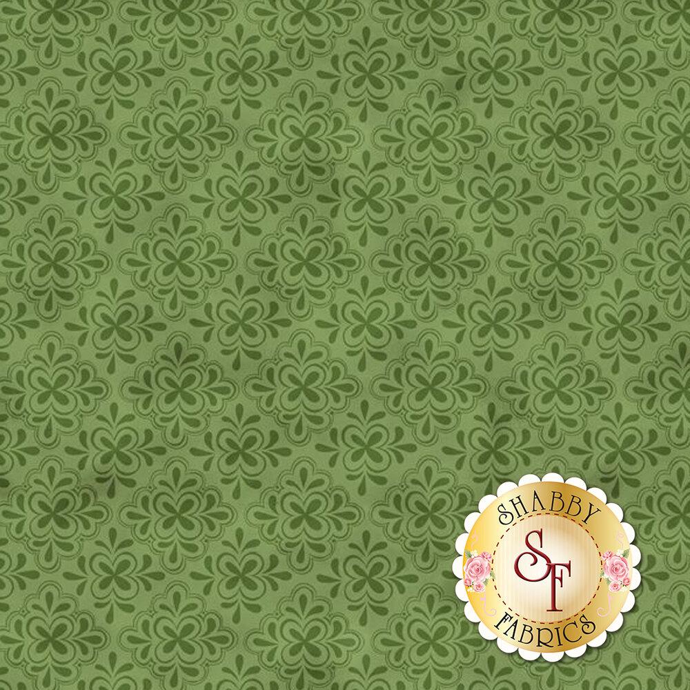 Tonal green tile design | Shabby Fabrics