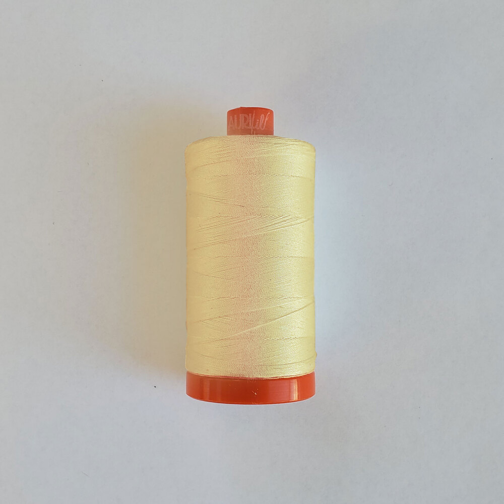 Mako Cotton Thread - Light Lemon - 1422yds | Shabby Fabrics
