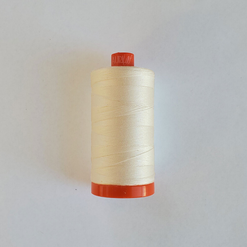 Mako Cotton Thread -  Silver White - 1422yds | Shabby Fabrics