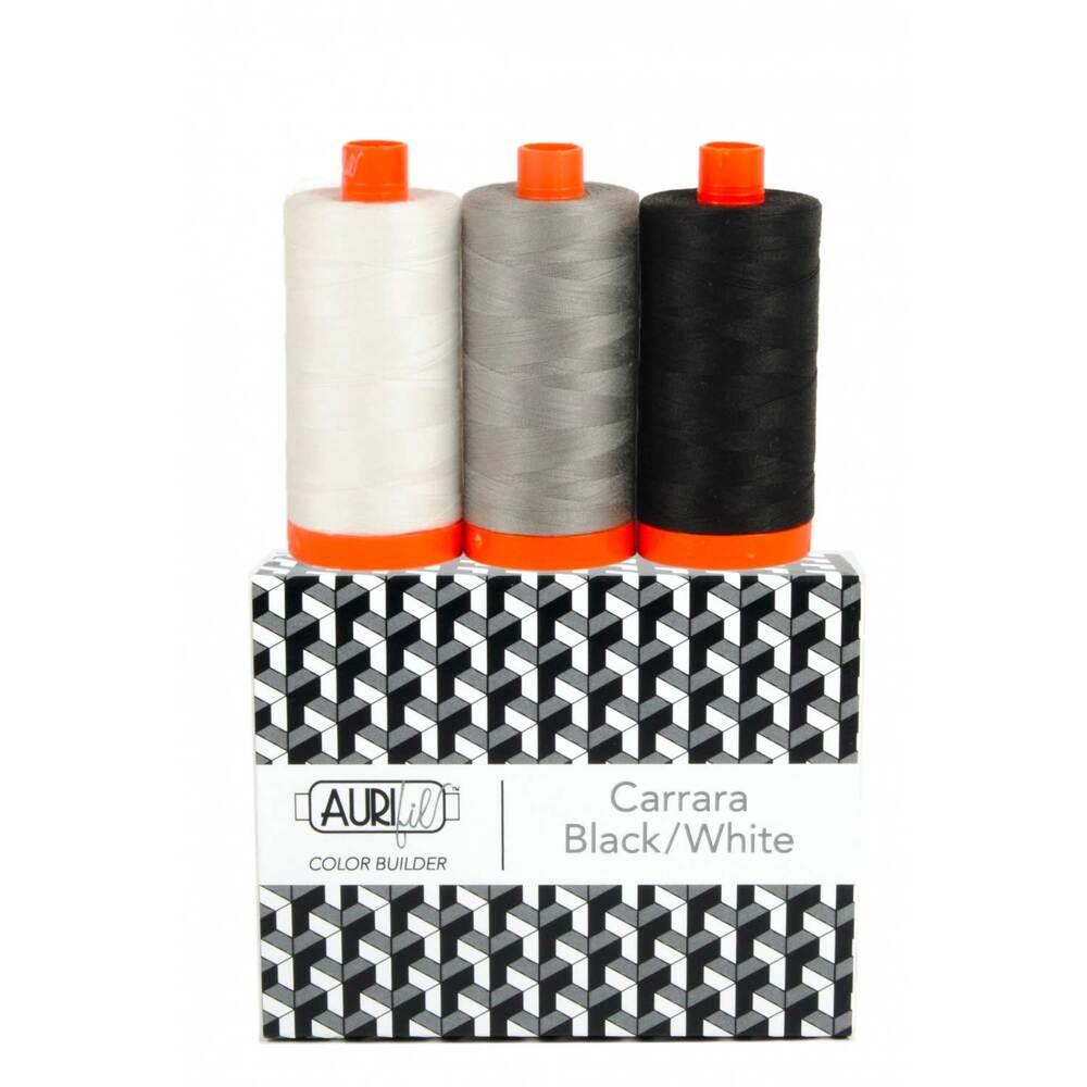 Aurifil Color Builder 3pc Set - Carrara - Black/White | Shabby Fabrics