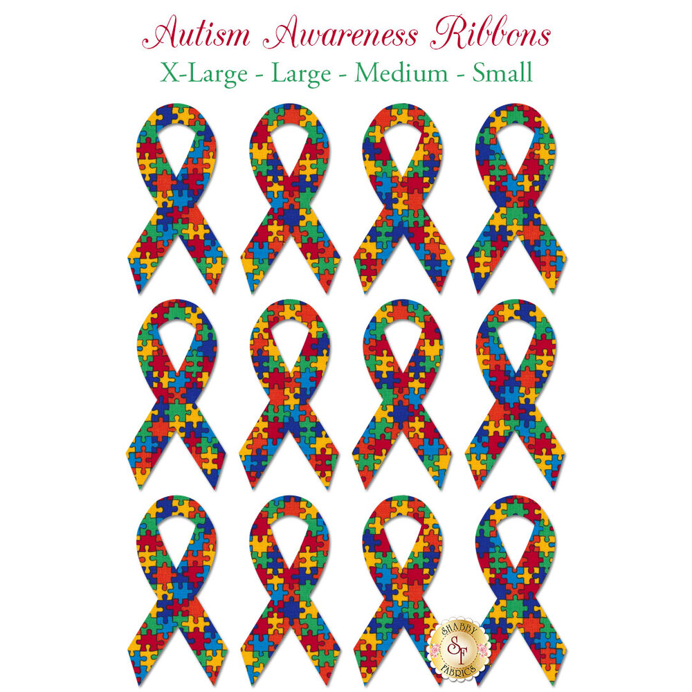 Laser-Cut Autism Ribbons - 4 Sizes Available!