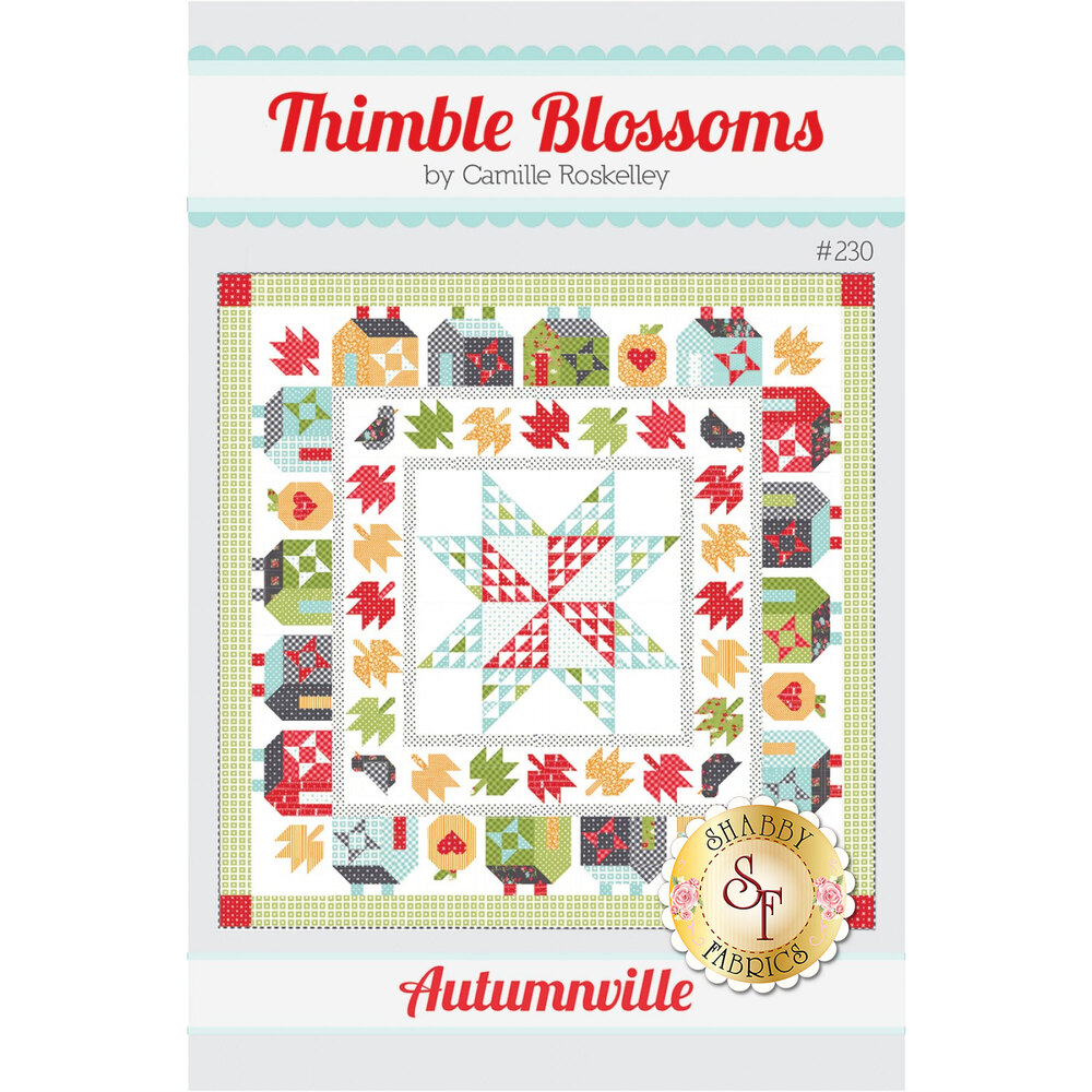 The front of the Autumnville Pattern showing the finished quilt | Shabby Fabrics