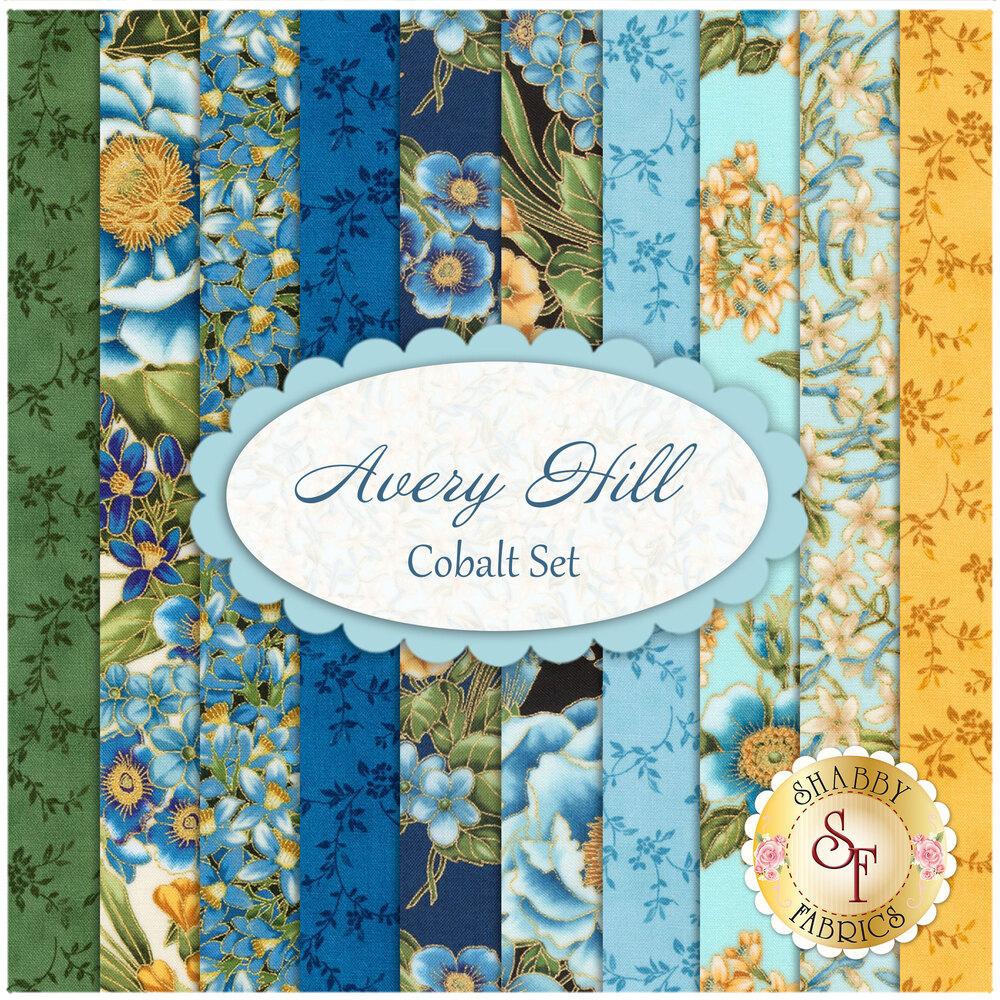 Avery Hill 10 FQ Set - Cobalt Set from Robert Kaufman