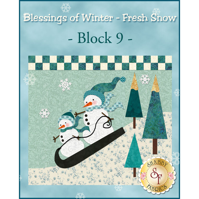 Blessings of Winter - Fresh Snow Quilt - Traditional Block 9 Kit