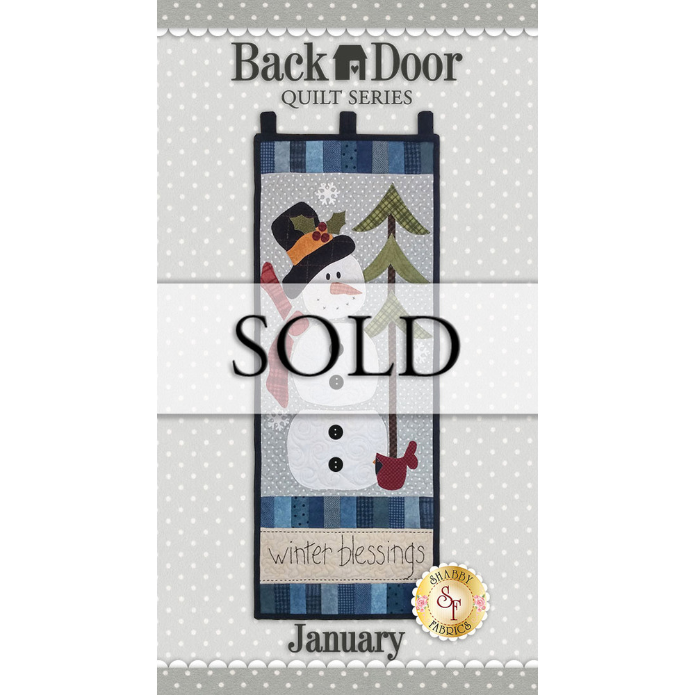 Back Door Quilt Series - Winter Blessings - SAMPLE Wall Hanging