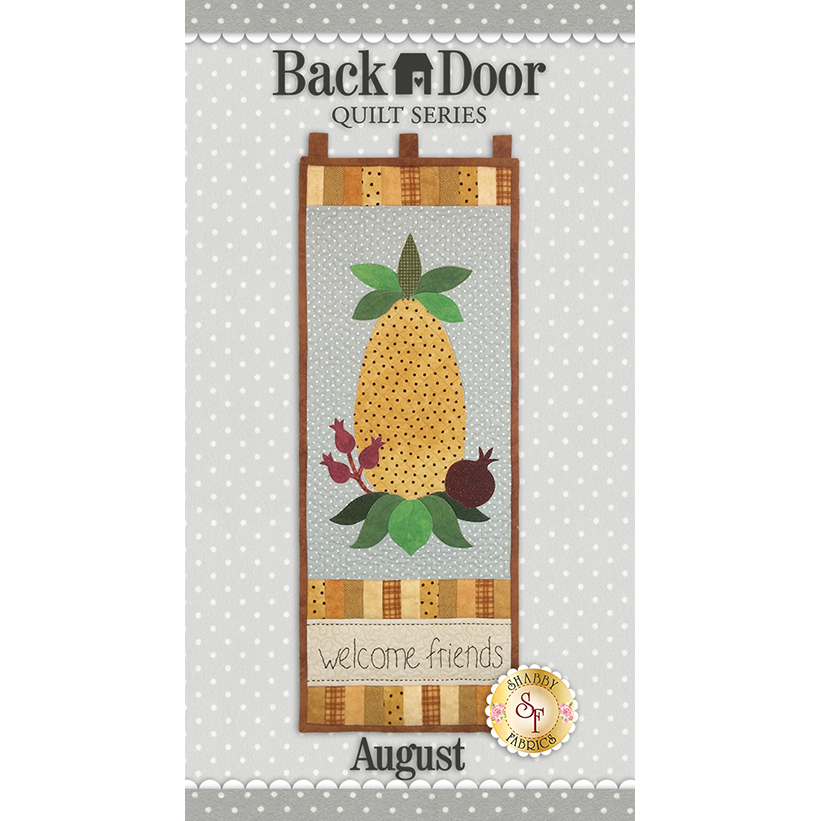 Back Door Wall Hanging Kit (Pre-fused & Laser Cut) - Welcome Friends