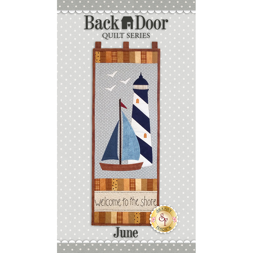 Back Door Wall Hanging Kit (Pre-fused & Laser Cut) - Welcome to the Shore