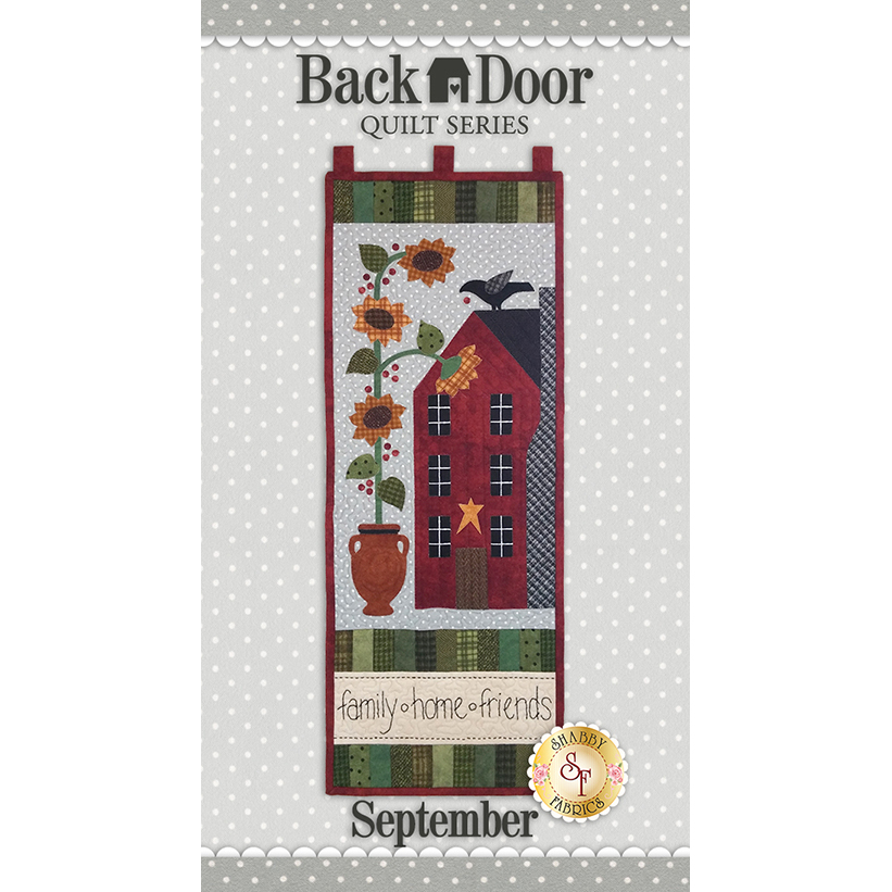 Back Door Wall Hanging Kit (Pre-fused & Laser Cut) - Family, Home, Friends