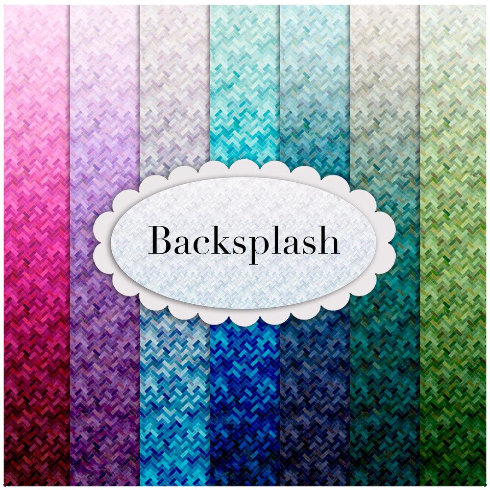 Collage of fabrics included in Backsplash quarter yard precuts   Shabby Fabrics
