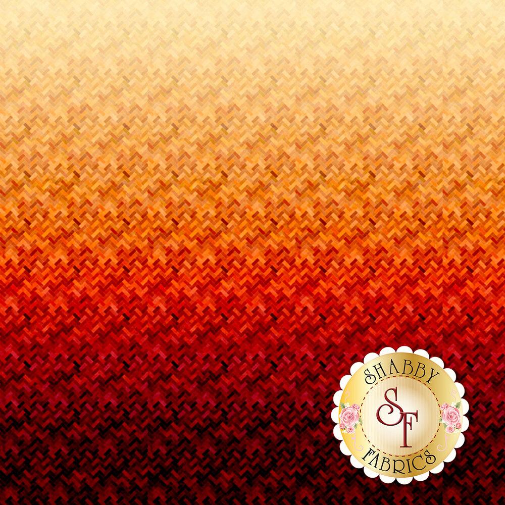 Red/orange ombre design | Shabby Fabrics