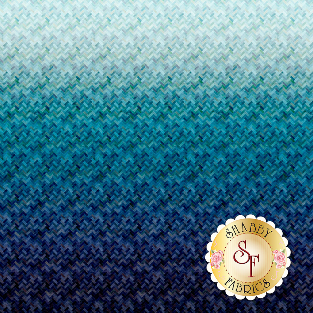 Blue/teal ombre design | Shabby Fabrics