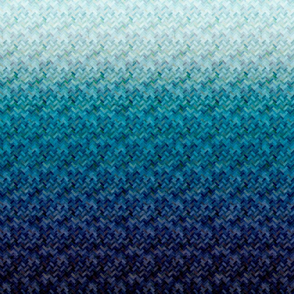 Blue/teal ombre design | Shabby Fabrics