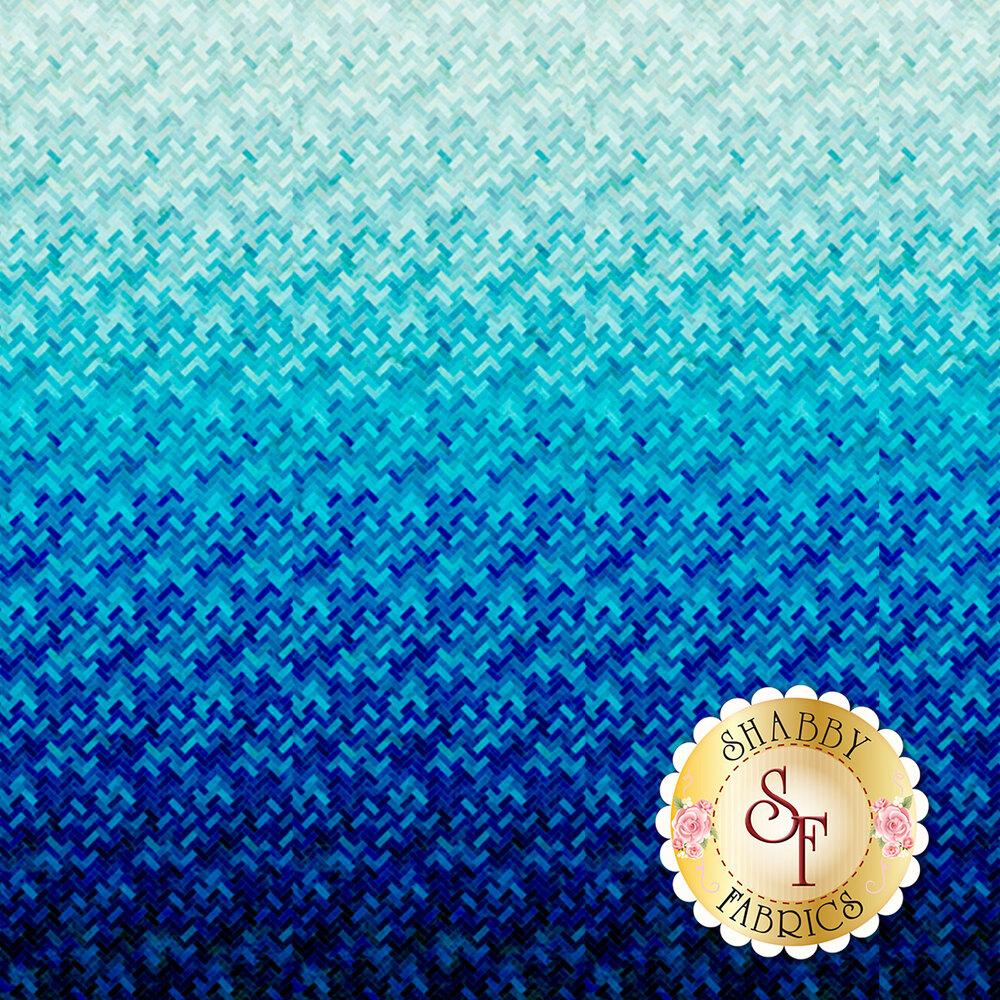 Blue/aqua ombre design   Shabby Fabrics