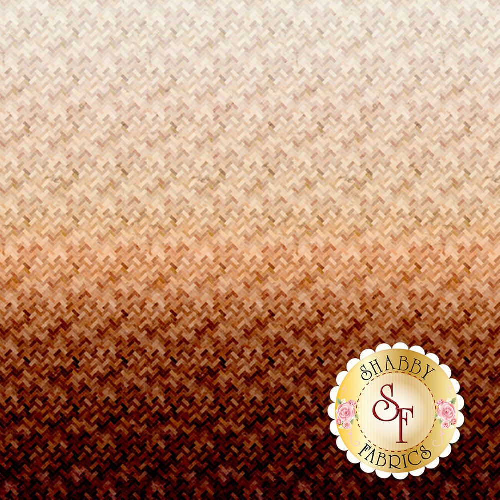 Brown ombre design | Shabby Fabrics