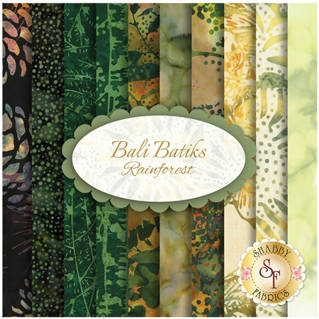 Bali Batiks  Yardage - Rainforest by Hoffman Fabrics