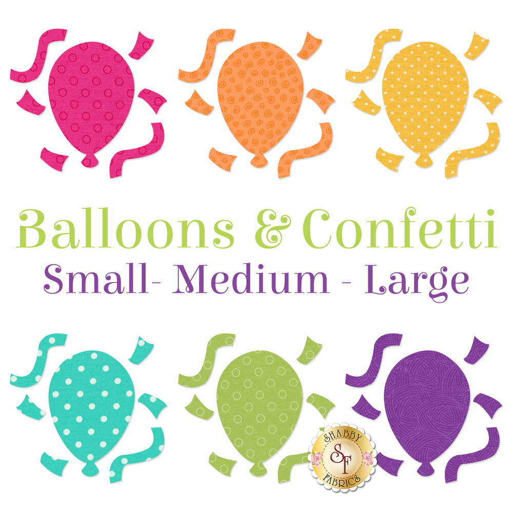 Laser-Cut Balloons & Confetti - 3 Sizes Available!