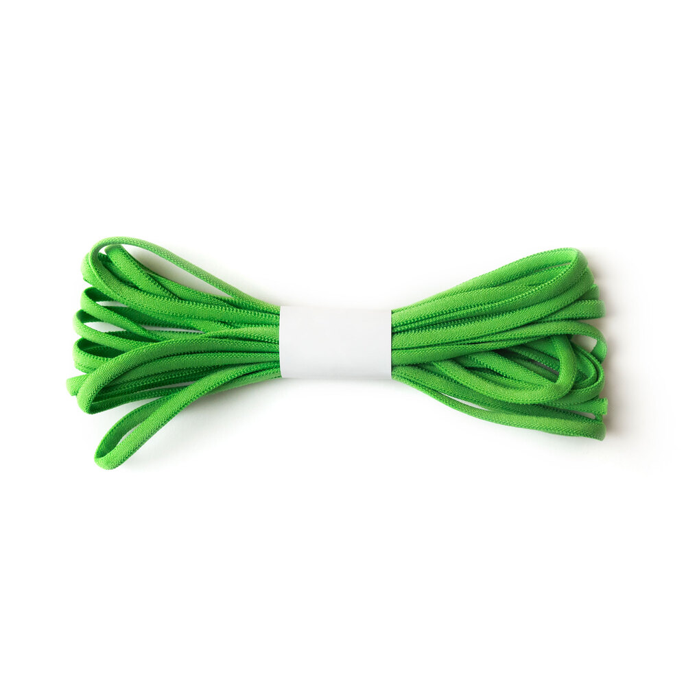A 4 yard roll of the Bright Green Banded Stretch Elastic