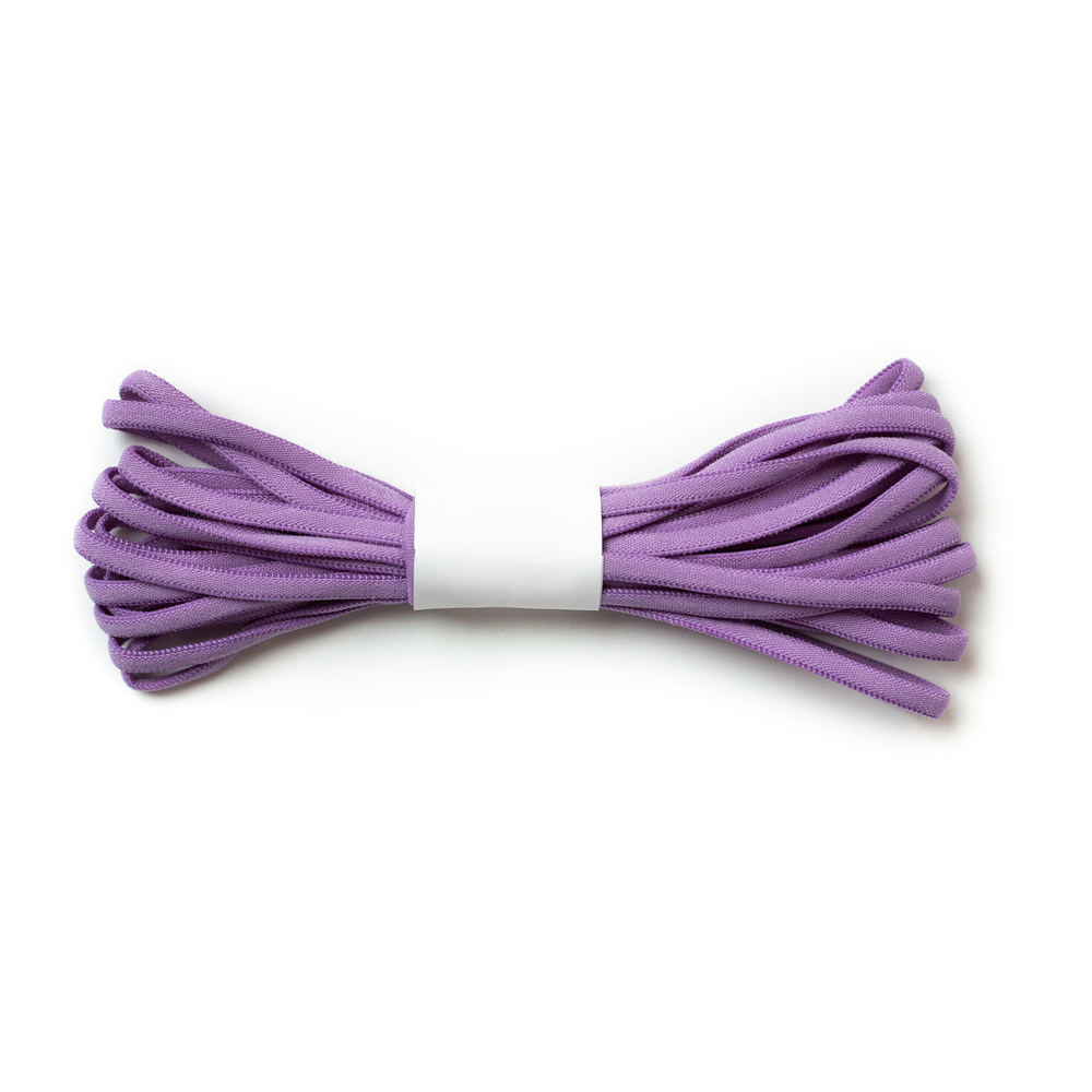 A 4 yard roll of the Lilac Banded Stretch Elastic