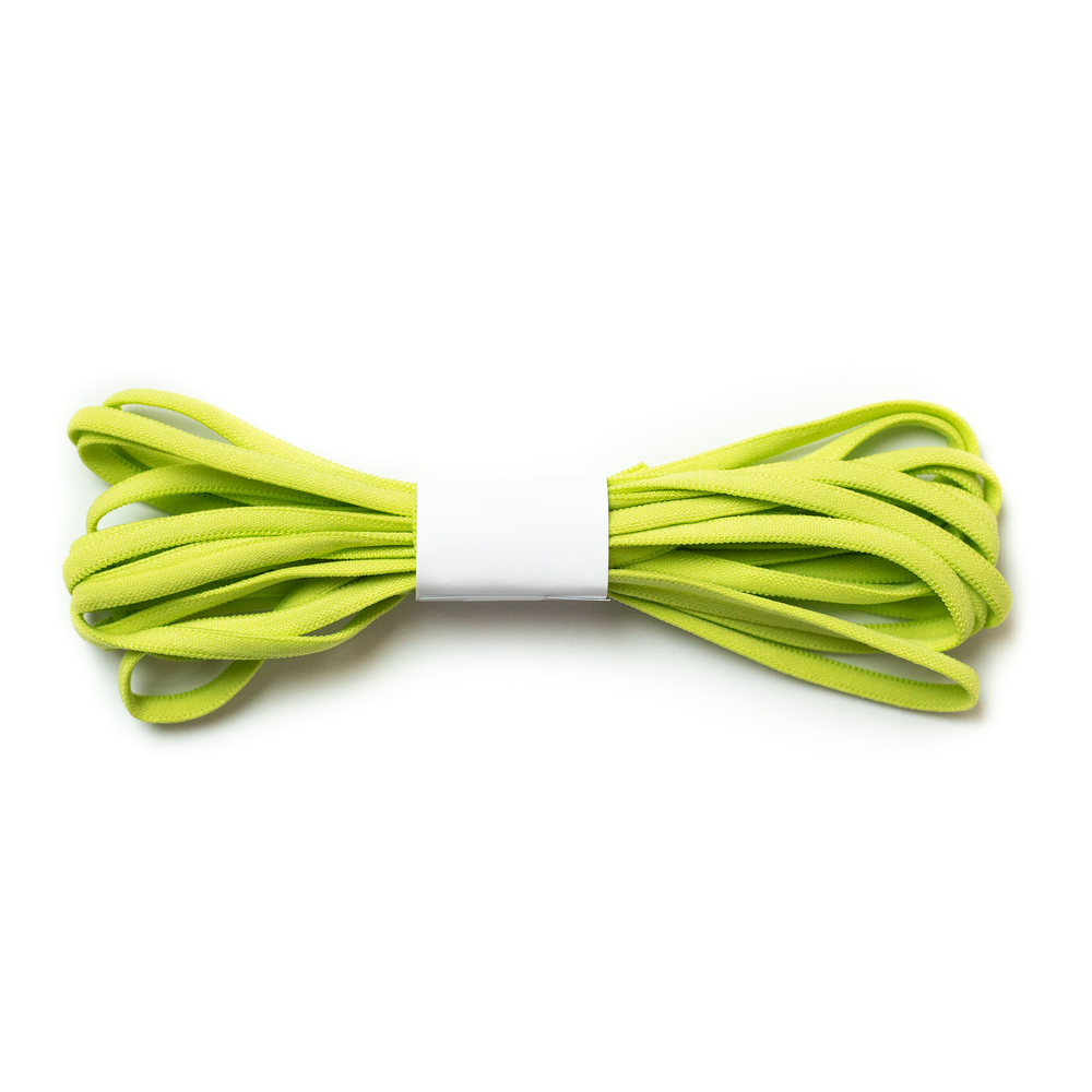 A 4 yard roll of the Lime Green Banded Stretch Elastic