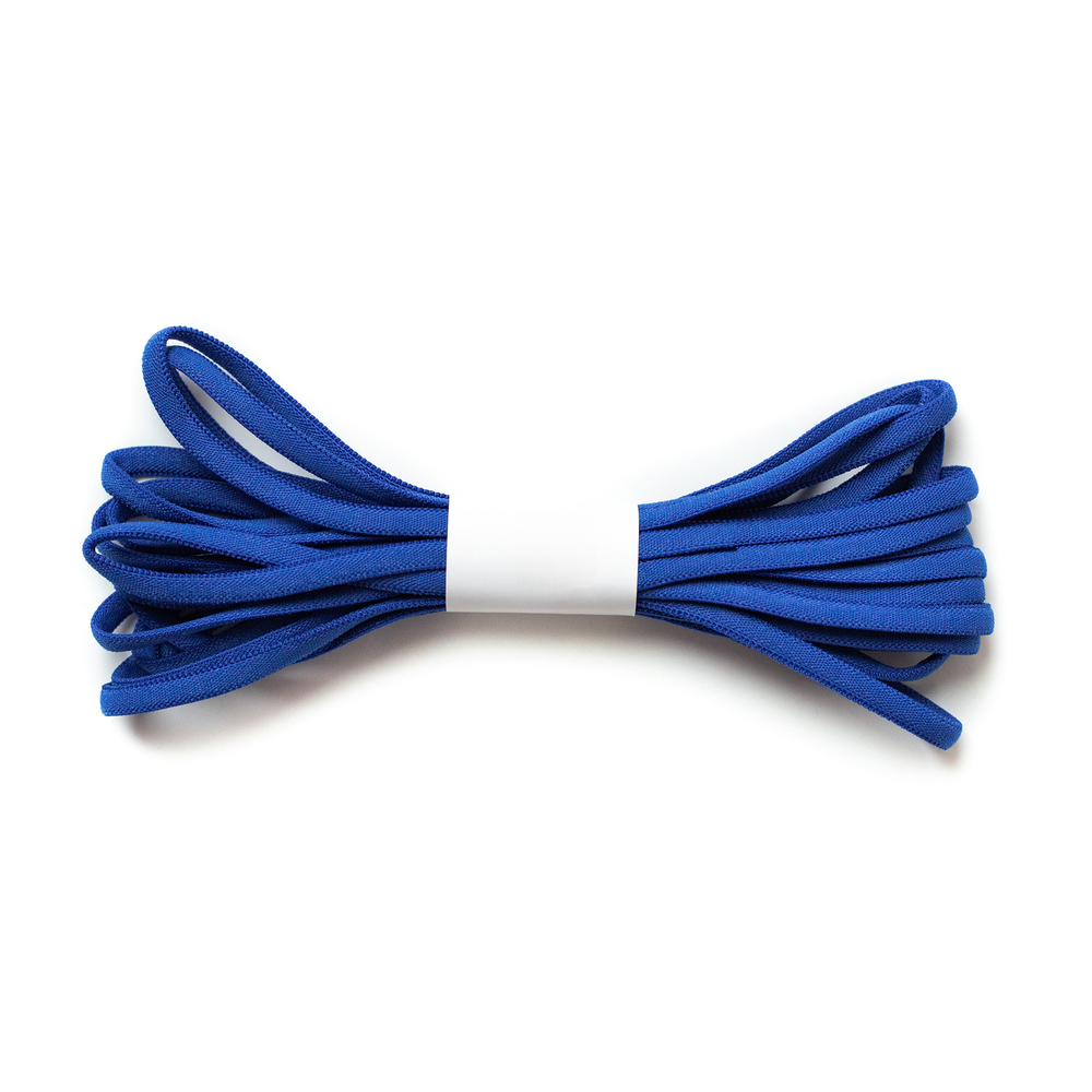 A 4 yard roll of the Royal Blue Banded Elastic