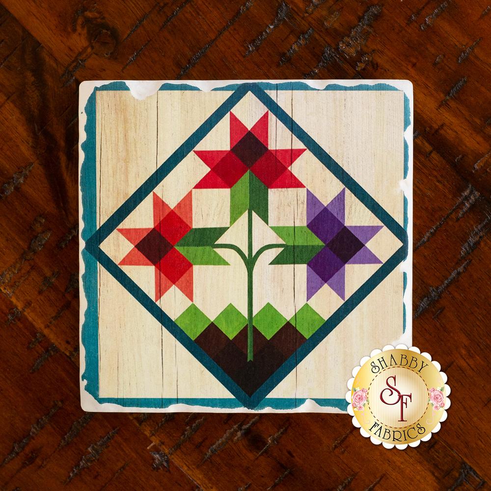 Barn Coaster - Flower Basket