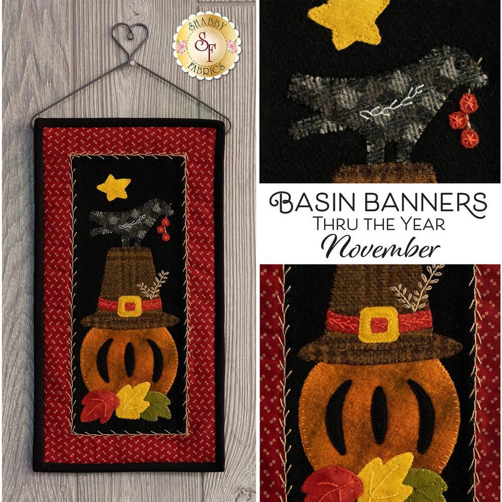 The November Basin Banners Wall Hanging
