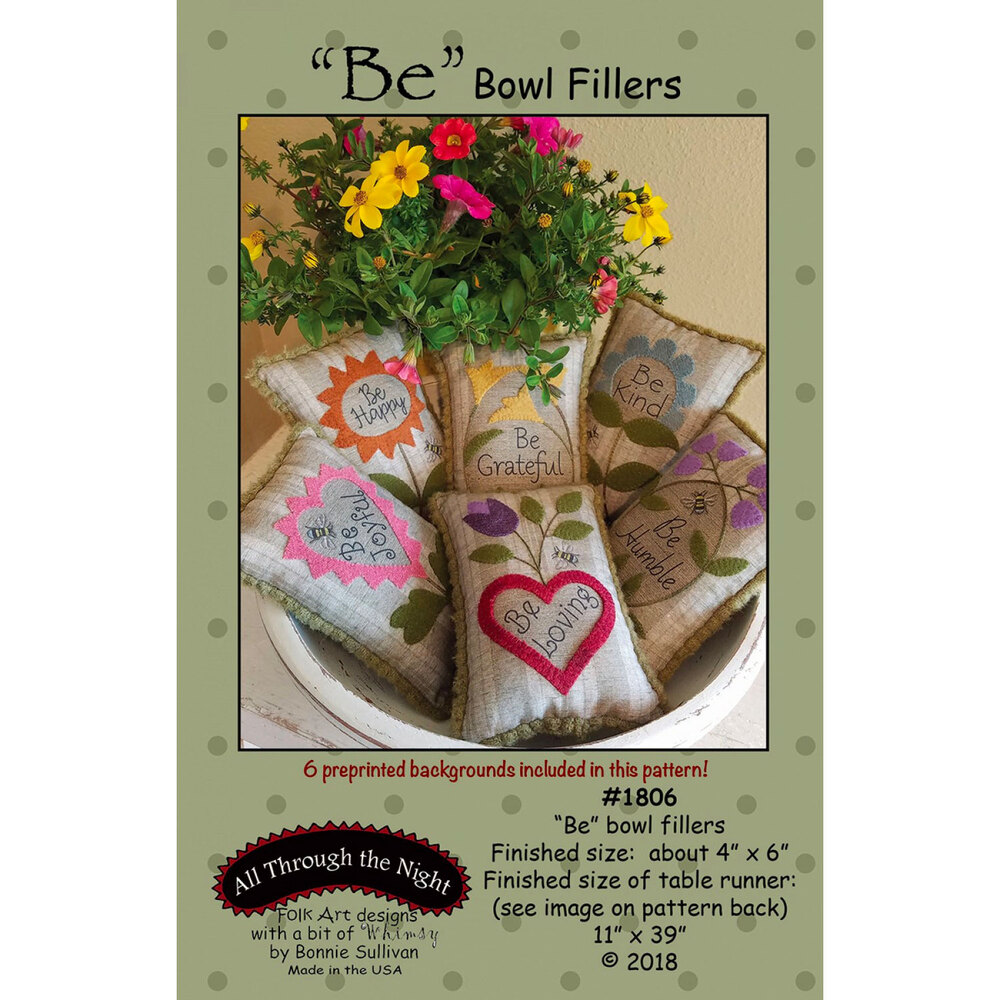"""Be"" Bowl Filler Pattern"
