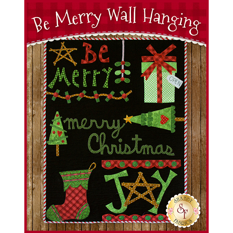 Be Merry Wall Hanging - Laser-Cut Kit