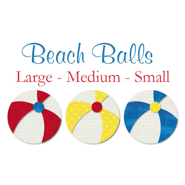 Laser-Cut Beach Balls - 3 Sizes Available!