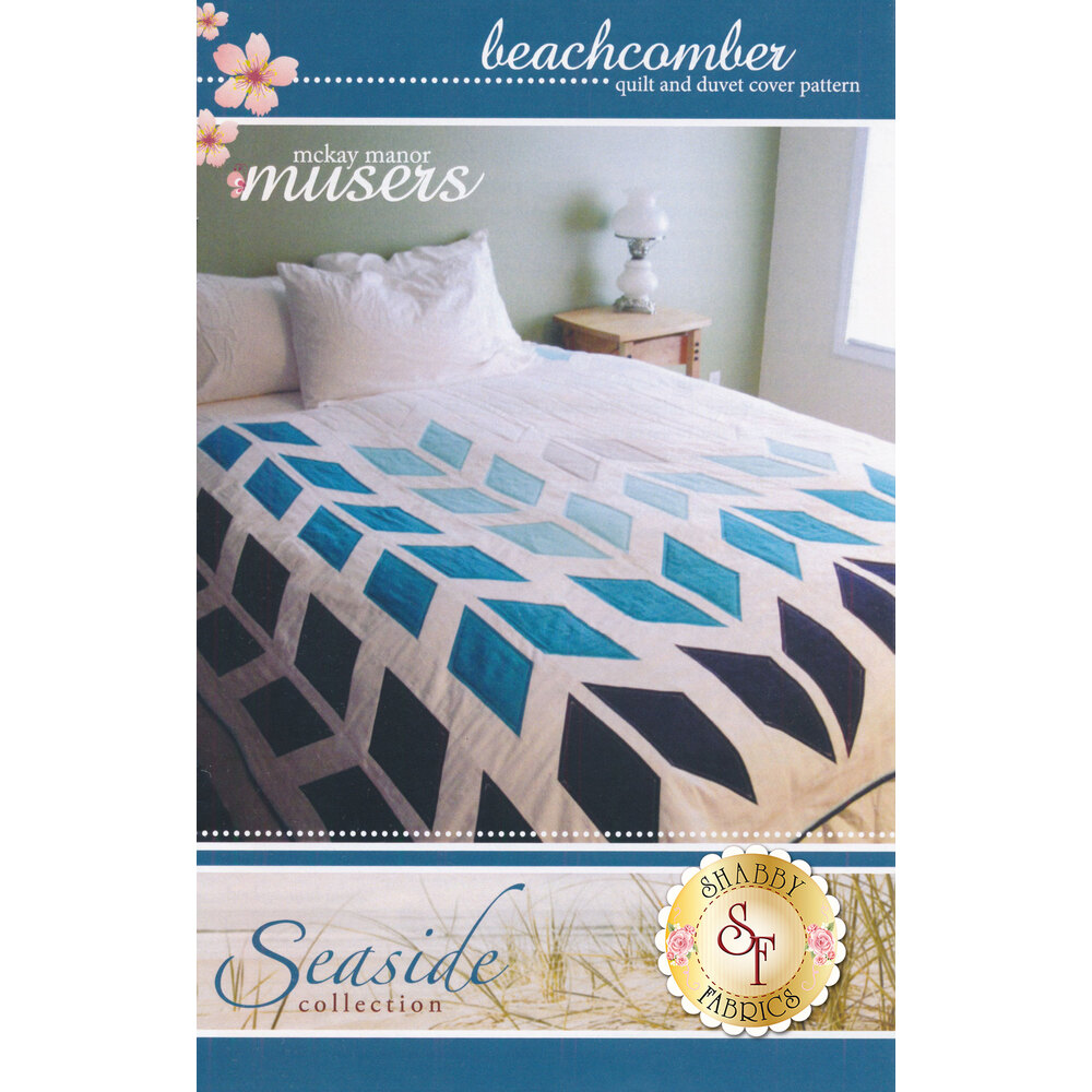 The front of the Beachcomber Pattern showing the finished quilt | Shabby Fabrics