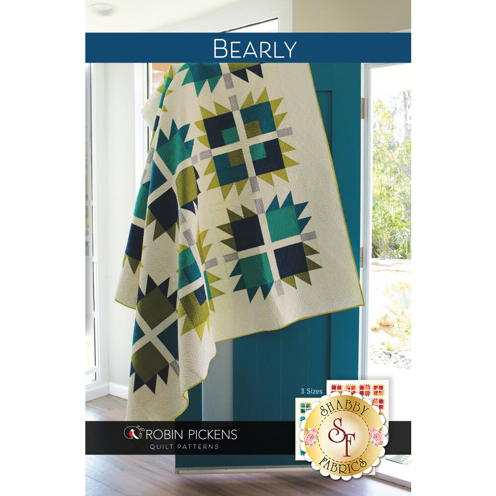 The front of the Bearly Quilt Pattern showing the finished quilt | Shabby Fabrics