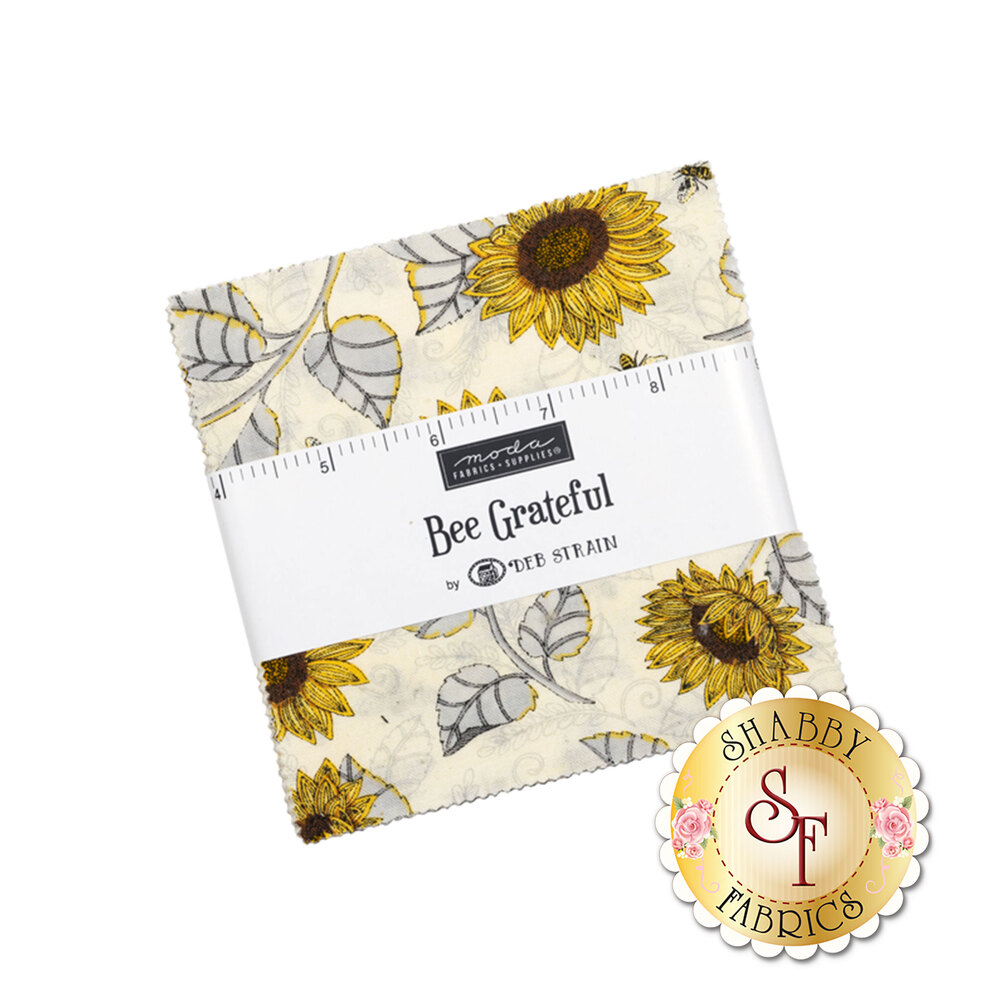 Bee Grateful  Charm Pack by Deb Strain for Moda Fabrics | Shabby Fabrics