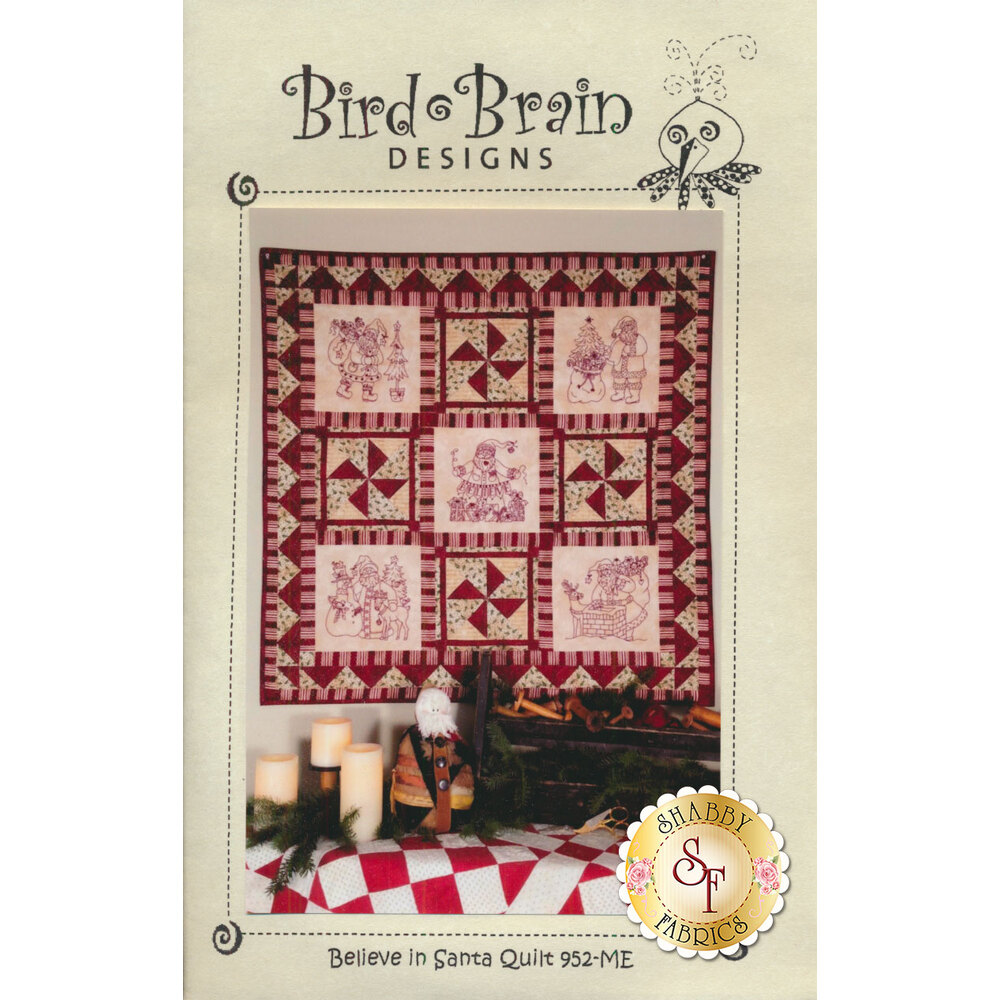 Believe In Santa Quilt Embroidery Machine CD available at Shabby Fabrics