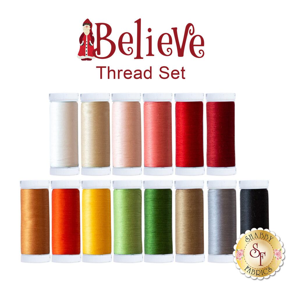 Believe Mystery BOM - 14 pc Sulky Cotton Thread Set