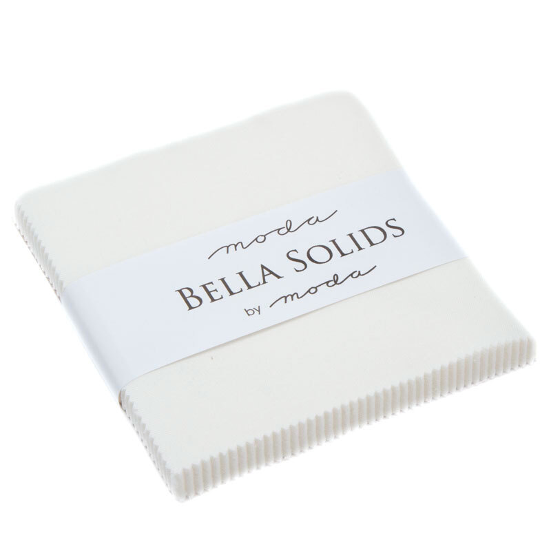 Solid white Bella Solids charm pack