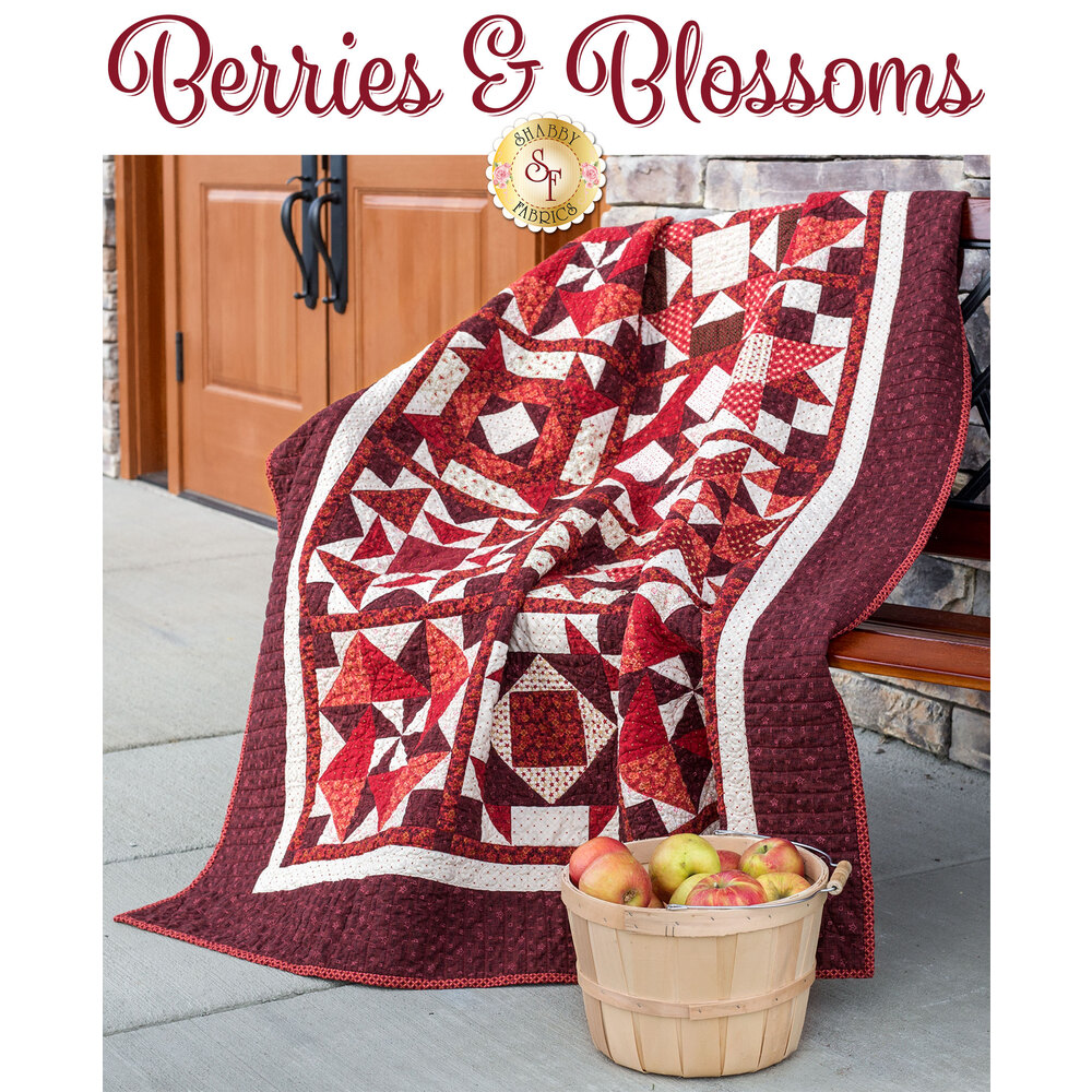 Berries & Blossoms Quilt displayed | Shabby Fabrics