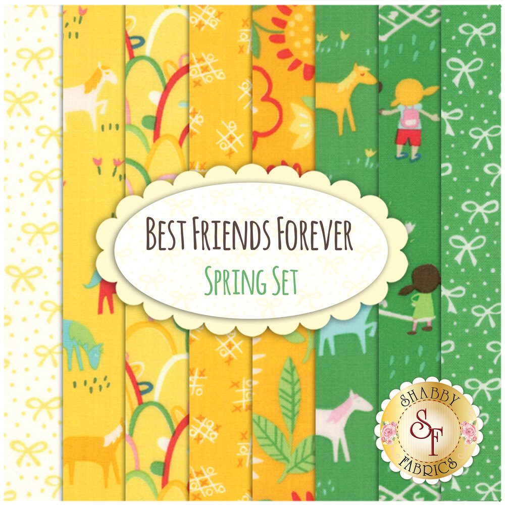 Best Friends Forever 8 FQ Set - Spring Set by Stacy Iest Hsu for Moda Fabrics