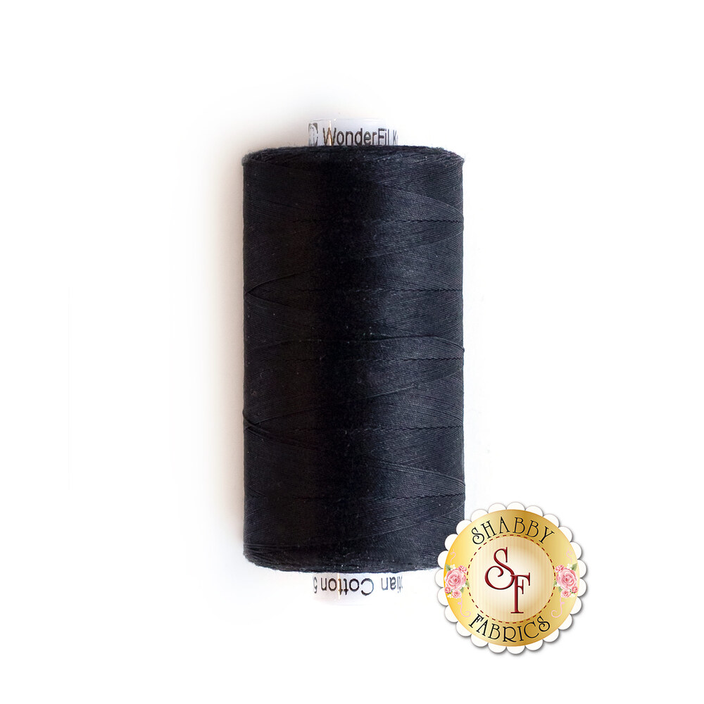 Spool of Konfetti KT200 Black thread | Shabby Fabrics